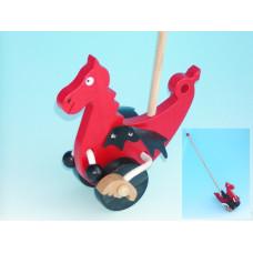 Dřevěná hračka na tyčce - Drak