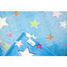Dětská deka Šedá s hvězdičkami