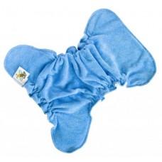 Novorozenecká kalhotková plena na snappi Modrá